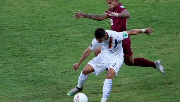 Paraguay venció 1-0 a Venezuela por las Eliminatorias a Qatar 2022. (Foto: Albirroja).