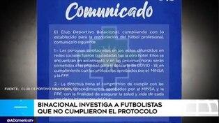 Jugadores de Binacional incumplieron protocolo en Lima y fueron aislados