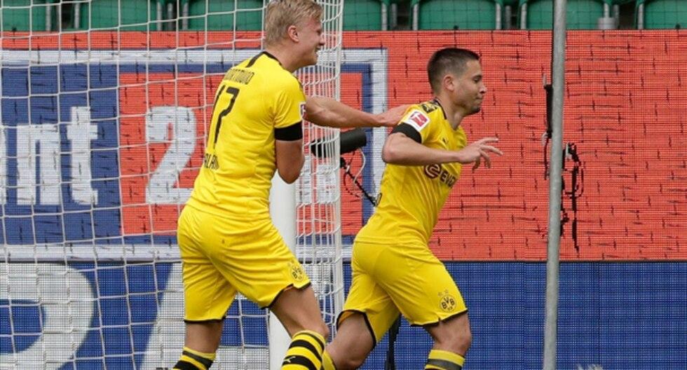 Borussia Dortmund se fue al descanso con el 1-0 sobre el Wolfburgo. (Foto: Getty)