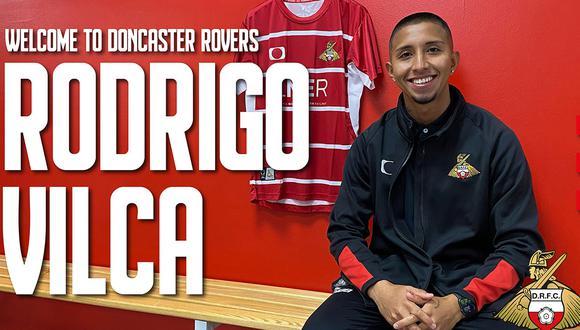 Rodrigo Vilca fue contratado por Doncaster Rovers. (Foto: Twitter)