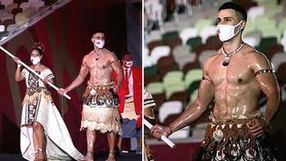 Tokio 2020: Abanderado de Tonga brilló en desfile inaugural