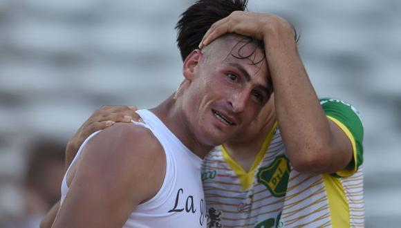 Braian Romero, goleador y campeón de la Sudamericana. (AFP)