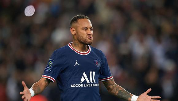 Neymar anotó el 1 a 1 del PSG vs Lyon en París. (Foto: AFP)
