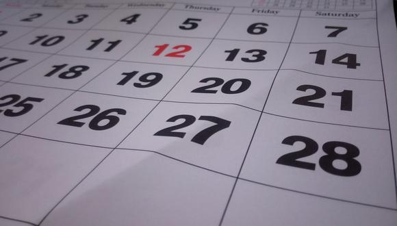 En lo que resta del año, todavía quedan tres feriados oficiales y  se han sumado cinco días que han sido decretados recientemente como no laborables para impulsar el turismo y la economía (Foto: Pixabay)