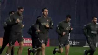 Imágenes del entrenamiento del Atlético de Madrid