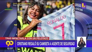 El noble gesto de Cristiano Ronaldo con una guardia de seguridad