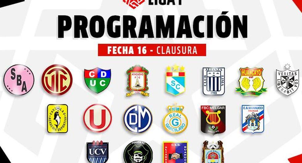 Liga 1: programación fecha 16 del Torneo Clausura (Diseño: GEC)