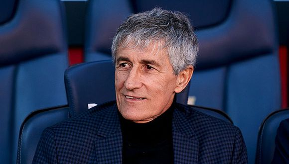 Quique Setién enfrentó al Barcelona como DT del Real Betis. (Foto: Getty Images)