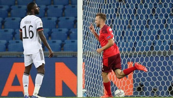 Alemania y Suiza se enfrentaron por la UEFA Nations League.  (Foto. EFE)