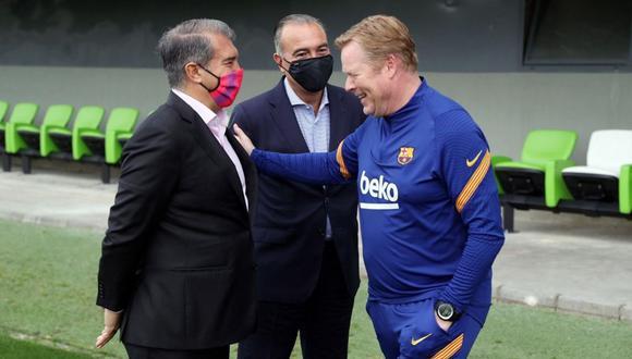 Joan Laporta evitó referirse al caso de Ronald Koeman. (Foto: Barcelona)