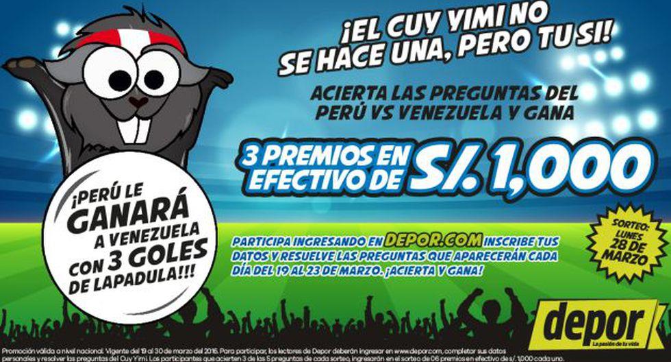 Juega, acierta las preguntas del Perú vs. Venezuela y gana