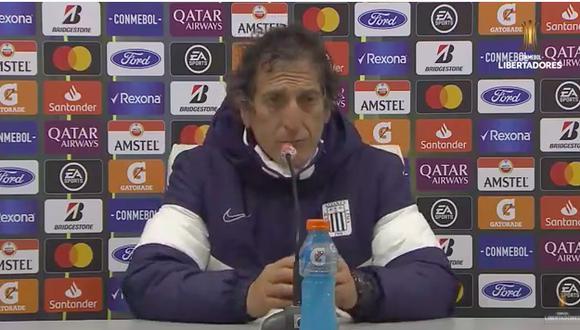 Mario Salas se refirió al rendimiento de su equipo en el duelo ante Nacional en Montevideo. (Foto: Twitter).