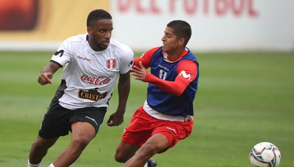 Jefferson Farfán participó del partido de práctica de la Selección este sábado. (Foto: Selección Peruana)
