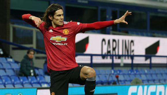 Edinson Cavani tiene contrato con Manchester United hasta el 30 de junio de 2021. (AFP)