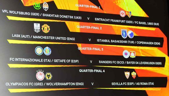 Así quedaron los emparejamientos de la Europa League. (Foto: AFP)