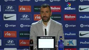 Diego Martínez asumió este domingo la derrota con el Atlético de Madrid