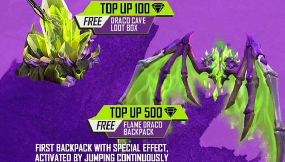 Free Fire: guía para obtener gratis la mochila Flame Draco