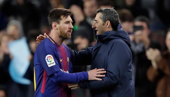 Lionel Messi y Valverde no ganaron la Champions League juntos en Barcelona. (Foto: Getty Images)