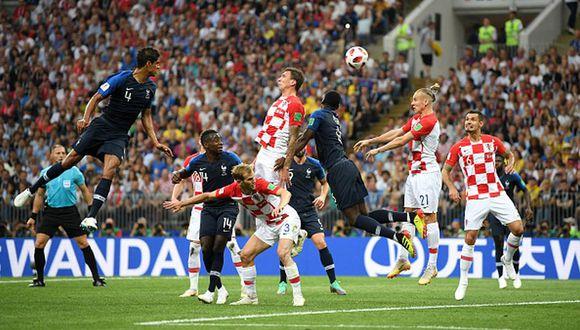 Mandzukic marcó el 1-0 del Francia vs Croacia por final del Mundial Rusia 2018.