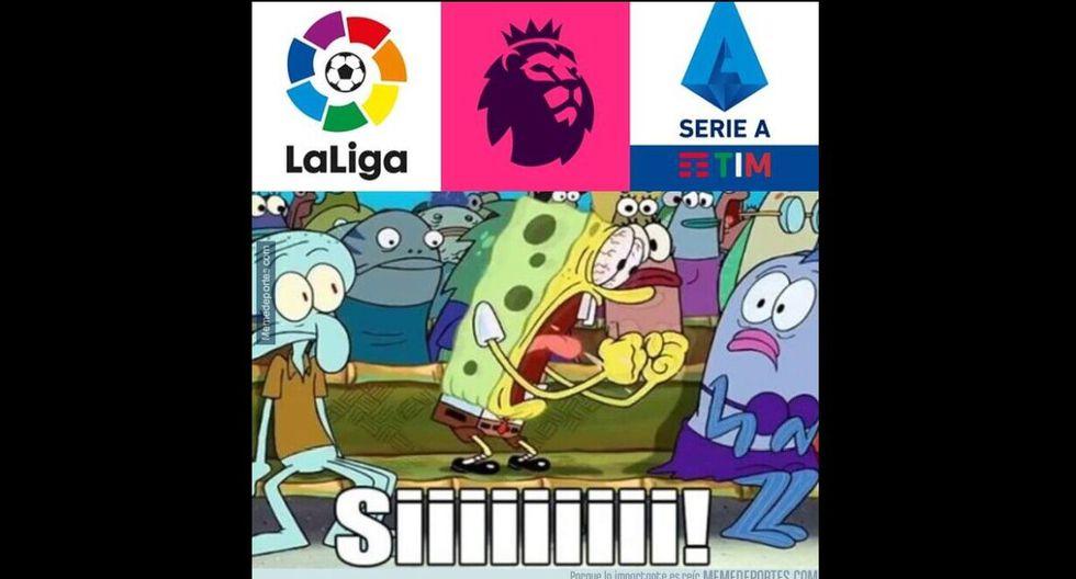 Los mejores memes por el regreso del fútbol en Europa.