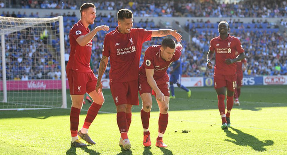 Liverpool vs. Cardiff City por la Premier League. (Foto: Getty Images)