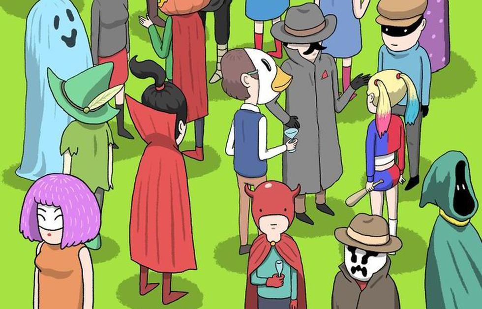 ¿Puedes encontrar al ladrón entre los invitados a la fiesta de disfraces? (Pinterest)