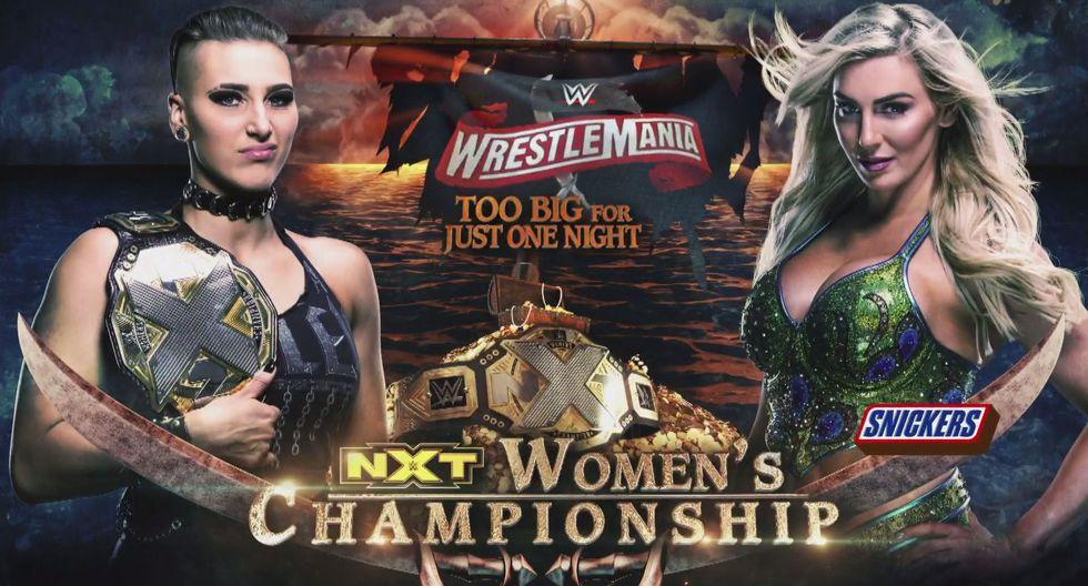 Rhea Ripley (c) vs. Charlotte Flair por el título femenino de NXT. (Foto: WWE)