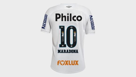 Yeferson Soteldo usará este sábado el '10' de Santos con el nombre de Diego Maradona. (Foto: Santos FC)