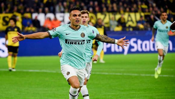 Lautaro Martínez anotó golazo ante Borussia  Dortmund por Champions League. (Getty)