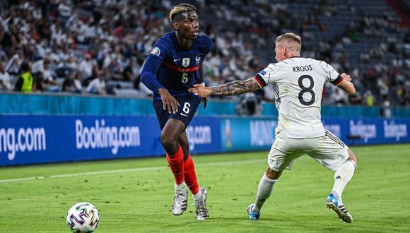 Paul Pogba generó el gol del triunfo de Francia ante Alemania. (Foto: Agencias)