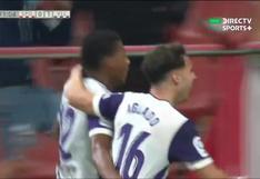 Su primer gol en España: Gonzalo Plata anotó para el 2-0 de Valladolid vs. Sporting Gijón [VIDEO]