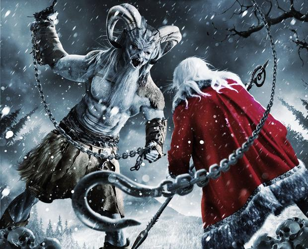 Not even Santa Claus is safe from the evil descending on Bailey Downs, a small town that is suddenly plagued by malevolent spirits, zombie elves, and Krampus, the anti-Santa Claus.  (Photo: Rotten Tomatoes)