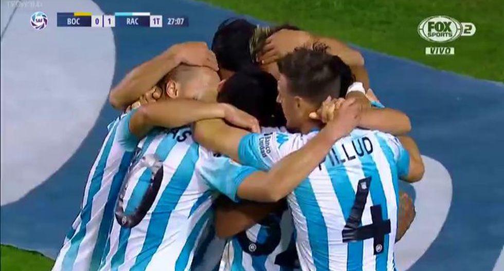 Boca Juniors vs. Racing: Zaracho anotó el 1-0 en La Bombonera. (Fox Sports)