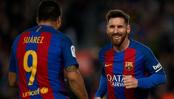 Lionel Messi y Luis Suárez jugaron juntos en el Barcelona hasta mediados de 2020. (Getty)