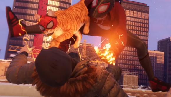 Spider-Man Miles Morales presenta a Spider-Cat como acompañante. (Foto: captura)