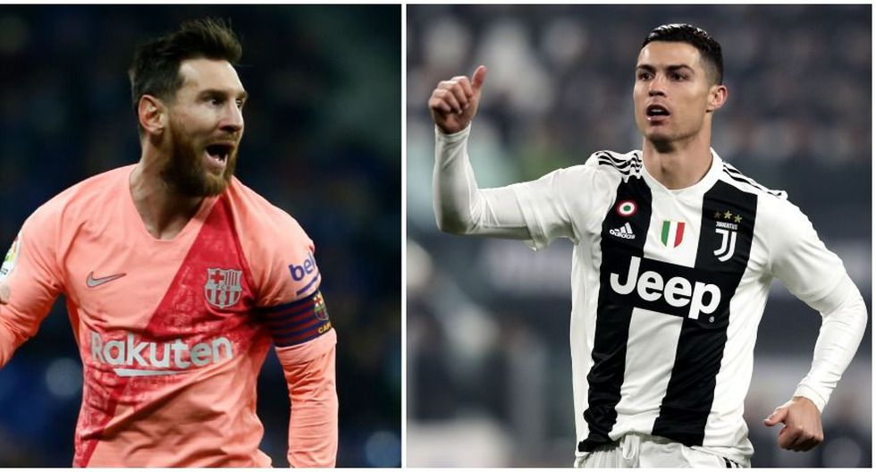Los números de Cristiano Ronaldo y Lionel Messi en el 2018. (Foto: AFP)