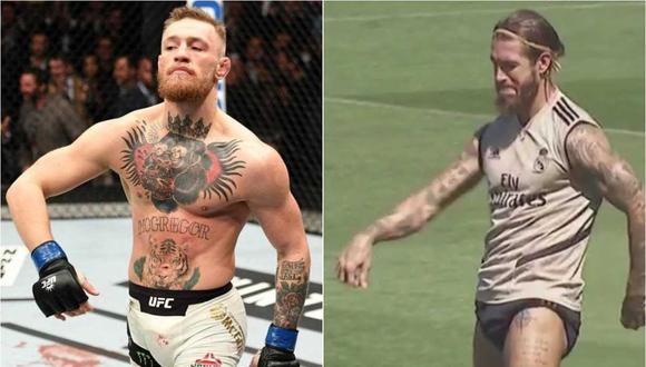 Conor McGregor respondió a Sergio Ramos por imitar su celebración. (Foto: Captura)
