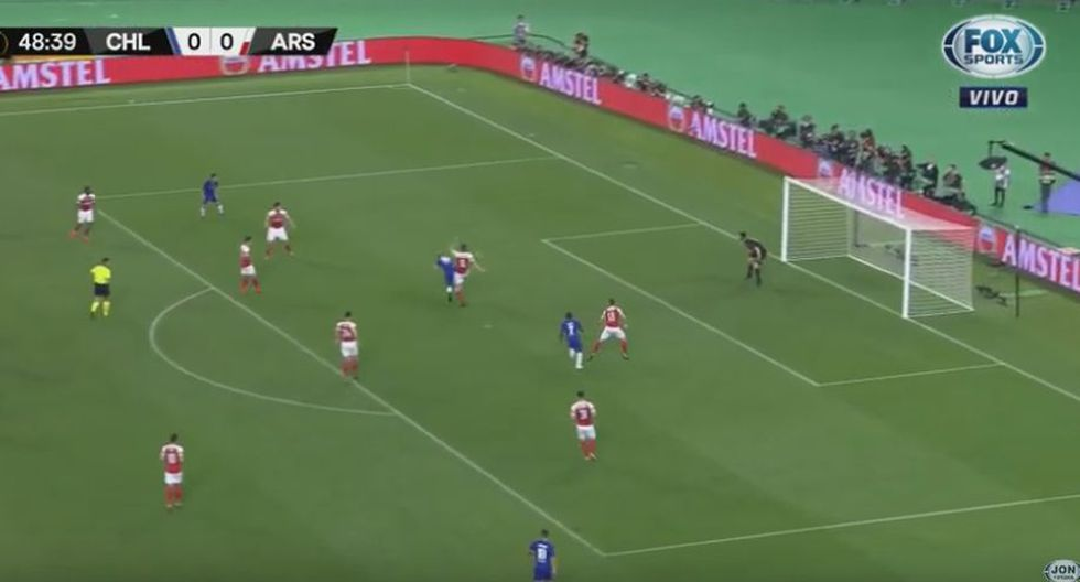 Olivier Giroud marcó el gol del 1-0 del Chelsea vs Arsenal en partido de la final de la Europa League 2019