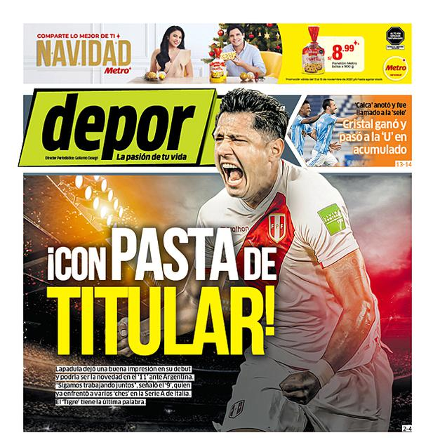 La portada impresa de hoy.