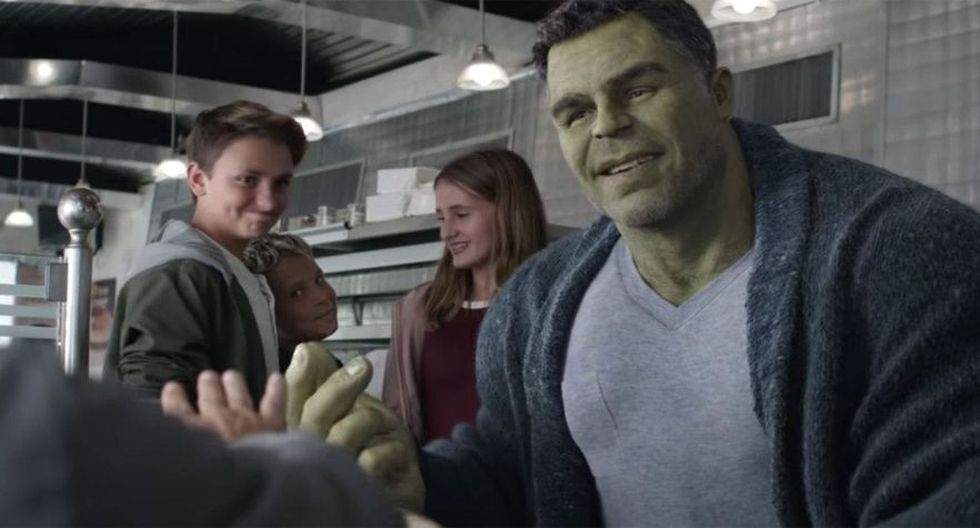La escena en cuestión corresponde al material extra de Hulk (Marvel)