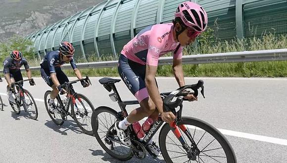 Culminada la Etapa 19 del Giro de Italia con Egan Bernal rumbo a Alpe di Mera. (Difusión)