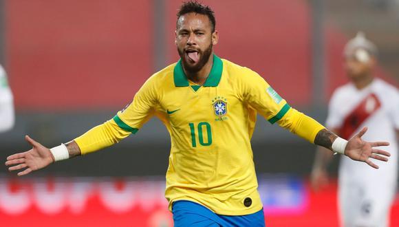 Neymar marcó tres goles ante Perú por la fecha 2 de Eliminatorias Qatar 2022. (AFP)
