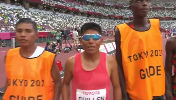 Rosbil Guillén acabó quinto en la final de 5000 metros T11 de Tokio 2020. (Captura: Paralympic Games)