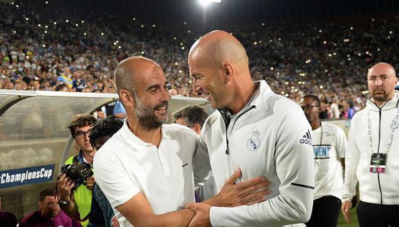 Real Madrid y Manchester City juegan por octavos de final de Champions League. (Getty)