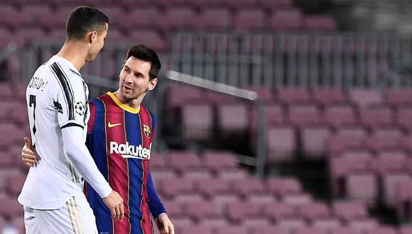 Cristiano Ronaldo y Lionel Messi se enfrentaron en la pasada Champions por última vez. (Foto: AFP)
