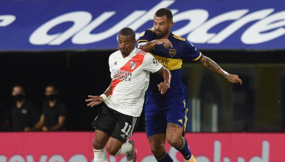 Boca Juniors y River Plate empataron 2-2 por la Copa Diego Armando Maradona en La Bombonera. (Foto: CONMEBOL)