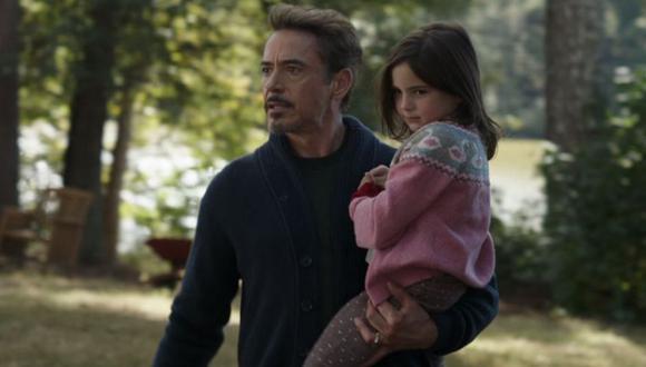 Tony Stark y su hija en Avengers: Endgame (Marvel)
