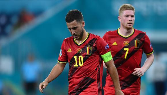 Hazard y De Bruyne no terminaron el duelo ante Portugal y salieron sentidos. (Foto: Reuters)