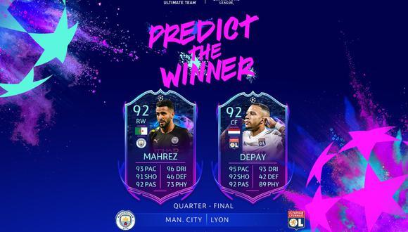 FIFA 20: Manchester City vs. Lyon definirá al jugador que mejore en Ultimate Team. (Foto: EA SPorts)