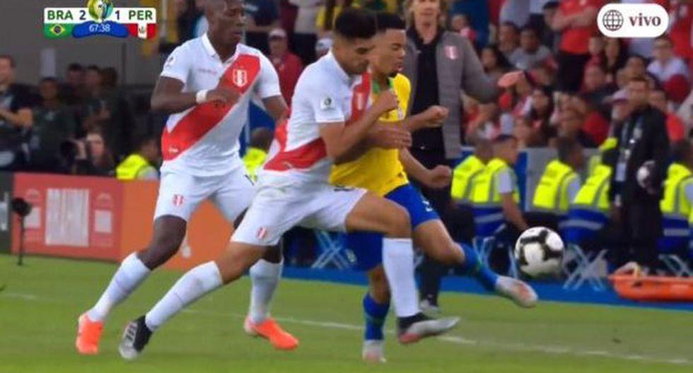 Carloz Zambrano fue amonestado en el duelo por la final de la Copa América. (Vídeo: América TV)